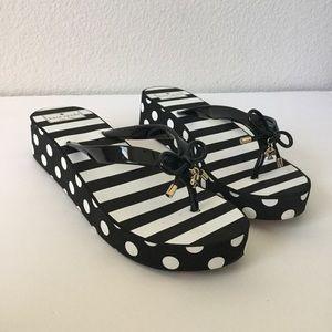 NEW Kate Spade Platform Black White Sandals